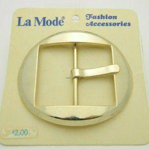 La Mode Gold Tone Large New Old Stock Vintage Belt